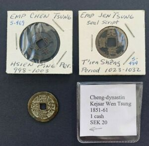 RARE GENUINE CHINESE ANCIENT COINS - CHINA SONG 1023 A.D - 3 DIFFERENT COINS