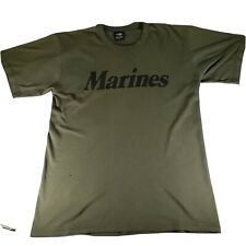Made in USA Rothco Distressed Marines T-Shirt USMC Semper Fidelis Olive Green