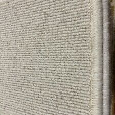 Berber Carpet Remnant Roll End In Shell Beige Wool Loop Rib Pile 4x3m 38% OFF