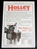1914 OLD MAGAZINE PRINT AD, HOLLEY CARBURETORS, NO MOVING PARTS, SO EFFICIENT!