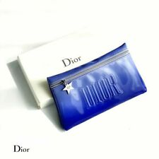 DIOR Lucky Star Charm Clutch Wide-Mouth Plastic Leather Gradient Blue Vip Gift