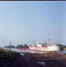 1967 Slide Photo Swedish Atlantic Line Cargo Ship TORSHOLM 2 Months Before Wreck