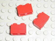 3 x LEGO red brick ref 2877 / set 7419 3829 10027 4551 7665 4565 10020 6212 ...
