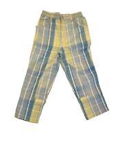 New Oilily Plaid Cotton Boys Girls Vintage Airplane Jeans Pants 122 7