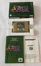 Zelda Majora's Mask Nintendo 64 N64 Game - Pal Version - Boxed - Complete - Mint