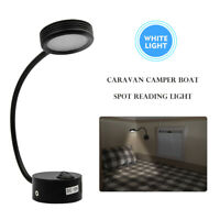 12V Campervan Motorhome Boat LED Reading Lights Wall Lamp Switch White 6000K