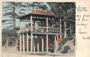 H59/ Asbury Park New Jersey Postcard 1908 Crow's Nest Deal Lake