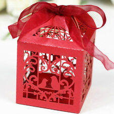 10/50/100Pcs Luxury Wedding Favour Sweet Cake Gift Candy Boxes Table Decoration