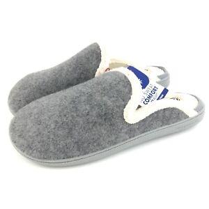 Dluxe Dearfoams Slippers Size XL 11/12 Memory Foam Felted Slip On Machine Wash