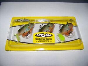 "Storm WildEye 2"" SUNFISH (GLITTER) Fishing Lures 1/4 oz. 2"" 3 Pack WLSF02"