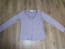 STREET ONE Frilla Damen Shirt Bluse M 38 Pullover Oberteil Jäckchen lila 2xgetra
