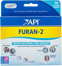 API FURAN-2 Fish Remedy, Treats Body Slime, Eye Cloud, fin & Tail Rot,