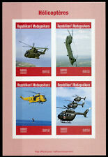 More details for madagascar 2019 mnh helicopters helicopter 4v impf m/s red cross aviation stamps