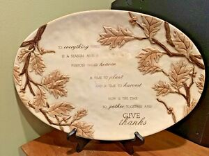 Grasslands Road Large serving platter Everything there is a Season give thanks
