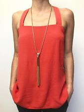 WITCHERY red sleeveless hilo tunic top sz 10