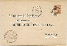 P7732   Verona, Bovolone, ann. numerale a sbarre, 1889