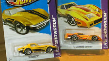 LOT OF 2  HOT WHEELS CHEV. CORVETTE,  69 CORVETTE, 76 GREENWOOD CORVETTE MINT