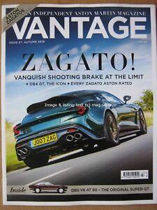 Vantage Autumn 2019 27 Aston Martin Vanquish DBS V8 Volante DB4 GT Zagato Vulcan