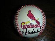 MIKE LEAKE, ST LOUIS CARDINALS, AUTOGRAPHED MLB BASEBALL,,2017 SPRING TRAINING