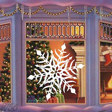 Christmas Snowflake Large Art Decal Vinyl Sticker Window Or Wall Panel