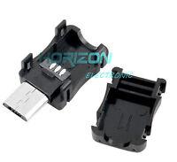 20PCS DIY Micro USB 5 Pin T Port Male Plug Socket Connector&Plastic Cover