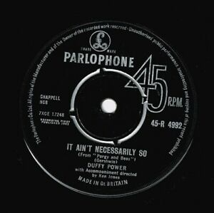 DUFFY POWER It Ain't Necessarily So Vinyl Record Single 7 Inch Parlophone & 1963