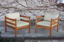 Teak Loungechairs 1 von 2  Easychairs  Danish Design Neu bezogen