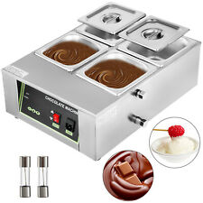 Chocolate Melting Warmer Temperer Electric Melter Machine 1500W 8kg 4-Tanks