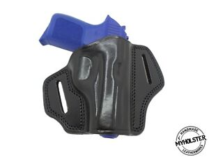 OWB Right Hand Open Top Leather Belt Holster Fits Sig Sauer P938