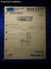 Sony Service Manual MDS EX77 Mini Disc Deck (#6086)