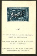 SWITZERLAND : 1945 War Relief Fund miniature sheet SG MS4446a unused,no gum