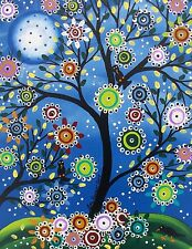 NEEDLEPOINT Canvas 14 or 18 count_Day Of The Dead_Mexican,Tree  Art, Moon