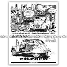 PUB CITROËN AZAM 6 (2CV) - Original Advert / Publicité 1965