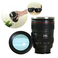 Creative Stainless Steel Camera Lens Cup Coffee Travel Mug Thermos Leak-Proof