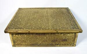 Antique Indian Brass Box/Casket Early 20thC