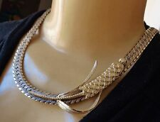 Vintage Necklace Huge Mid Century Modern Cattail Pendant Wide Collar