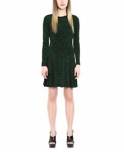 MICHAEL Michael Kors Womens Cheetah Print Green Sz Medium M Sheath Dress $98 415