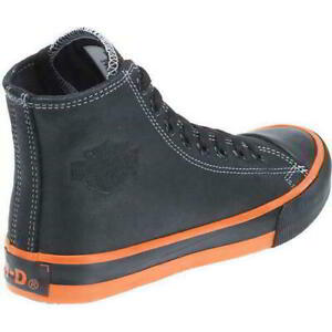 Harley Davidson Mens Nathan High Top Leather Sneakers Boots NWT