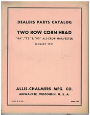 Vintage Original Parts Catalog Two Row Corn Head Models 66, 72, 90, All Crop Har