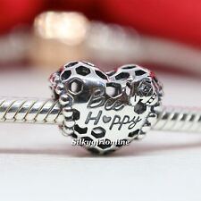 Authentic Pandora Sterling Silver Bee Happy Honeycomb Heart Charm 798769C00