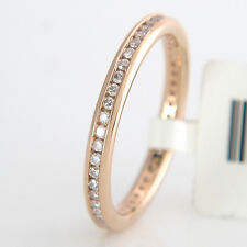 MEMOIRERING SLIM - Brillanten 0,35 ct TW/SI in 18K/750 Roségold - Gr. 53 - NEU