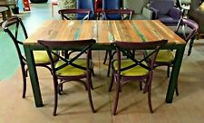 RECLAIMED BOAT WOOD / DRIFT WOOD TABLE / EXTENDING / 2 LEAF / 8 SEATER / EXTENDS