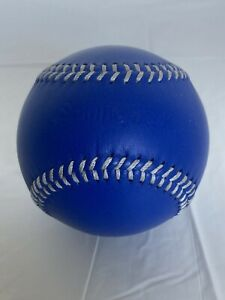 Spinneybeck Leather Baseball  Souvenir Collectible Ball Blue W White Stitches