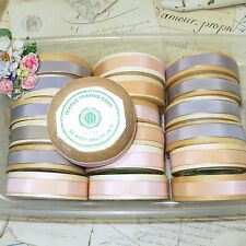 "10y SPOOL 5/8"" VTG BABY PINK RAYON TAFFETA RIBBON DOLL DRESS TRIM BOW FRENCH HAT"
