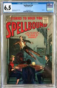 SPELLBOUND #34 CGC 6.5 -- LAST ISSUE; ATLAS COMICS CLASSIC HORROR