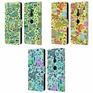 HEAD CASE DESIGNS PREHISTORIC PATTERNS LEATHER BOOK CASE FOR SONY PHONES 1