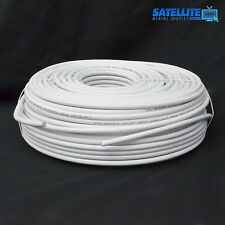30m White RG6 Satellite Freesat Digital TV Aerial Coax Cable Coaxial Lead wire