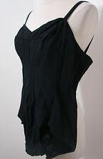 Vintage 60's Brooks Costumes Edie Adams Worn Black 1pc Paneled Bathing Suit M