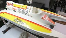 """Tunnel Hull Boat,  Vintage Hardees Fiberglass 32"""" Long, 14""""  Wide with Stand"""