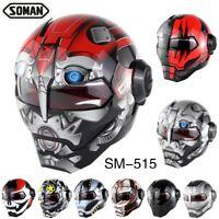 Soman Fashion Motorcycle Helmet Casco Open Face Verspa capacete DOT Full Helmets